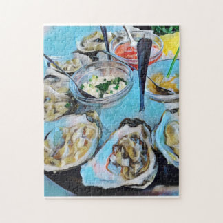 Oysters Plate Jigsaw Puzzle