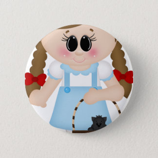 oz dorothy and toto 6 cm round badge