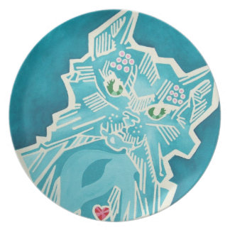 Oz Plate - Glass Cat