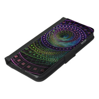 Oz the Great with Technicolor Fractal Rainbow iPhone 6/6s Plus Wallet Case