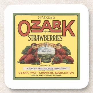 Ozark Strawberries Beverage Coaster