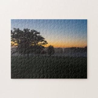 Ozarks August Dawn Jigsaw Puzzle