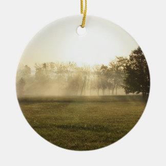 Ozarks Morning Fog Ceramic Ornament