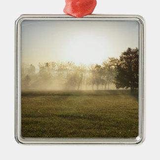 Ozarks Morning Fog Metal Ornament
