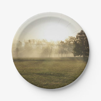 Ozarks Morning Fog Paper Plate