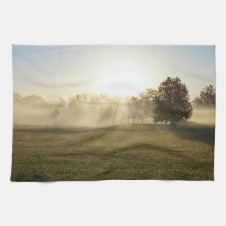 Ozarks Morning Fog Tea Towel