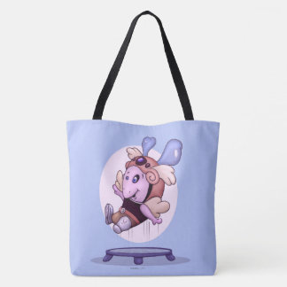 OZEL CUTE ALIEN MONSTER CARTOON TOTE BAG