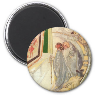 Ozma at the Magic Picture 6 Cm Round Magnet