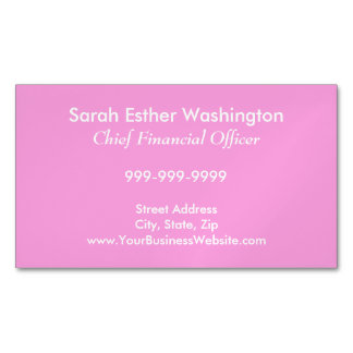P15 Pink Color Magnetic Business Card
