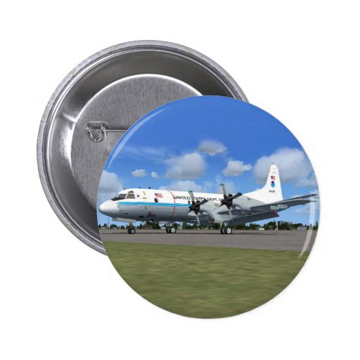 P3 Orion NOAA Weather Plane Pinback Buttons
