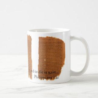 P46: Philippians 1:21 Coffee Mug