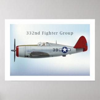 P47C Tuskegee  Thunderbolt Poster