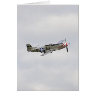P51 Mustang Fighter Card
