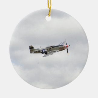 P51 Mustang Fighter Ceramic Ornament