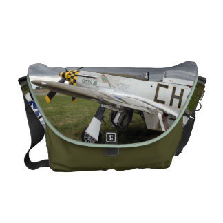 P51 Mustang Fighter Plane Messenger Bag