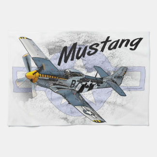P51 Mustang Hand Towels