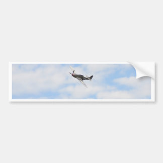 P51 Mustang In Flight Bumper Sticker