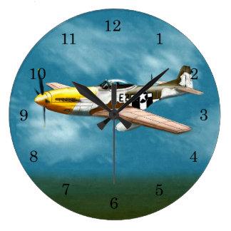 P51D Mustang Wall Clock