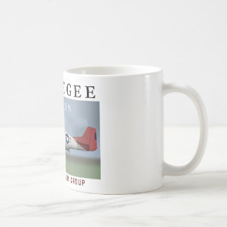P51D Red Tail Mustang Fighter Coffee Mug