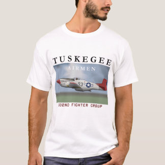 P51D Red Tail Mustang Fighter T-Shirt