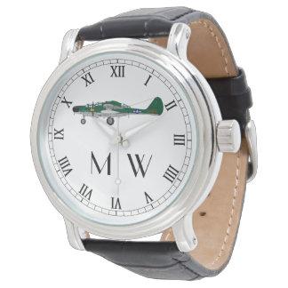 P61 Black Widow   Monogrammed classic plane Watch