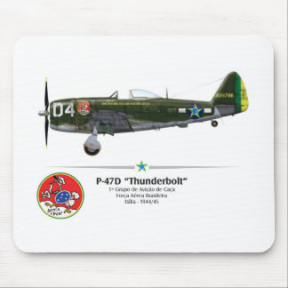 P-47D Thunderbolt - the Drill Seats - BAF Mouse Pad