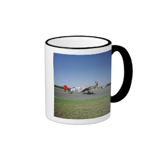P-51 C Tuskegee Red Tail airplane at the CAF Air Ringer Mug