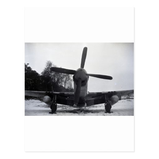 P 51 Mustang Battle of the Bulge Post Card