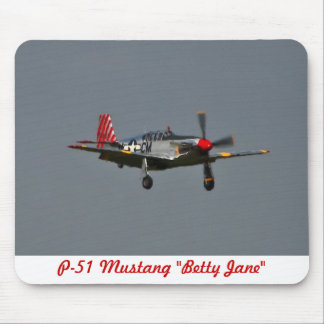 P-51 Mustang Betty Jane Mousepad