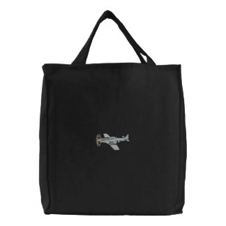 P-51 Mustang Embroidered Tote Bags