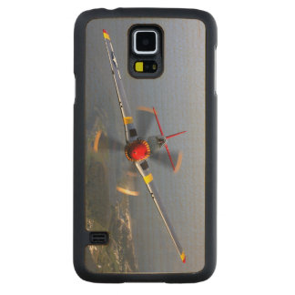 P-51 Mustang Fighter Aircraft Carved Maple Galaxy S5 Case