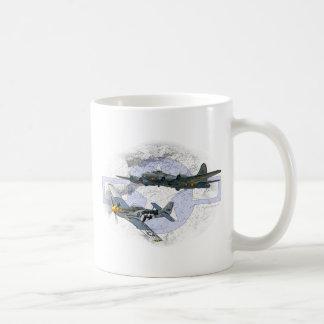 P-51 Mustang flying escort Coffee Mug