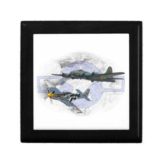P-51 Mustang flying escort Gift Box