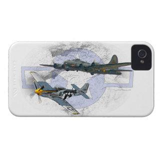 P-51 Mustang flying escort iPhone 4 Cases
