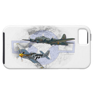 P-51 Mustang flying escort iPhone 5 Cases
