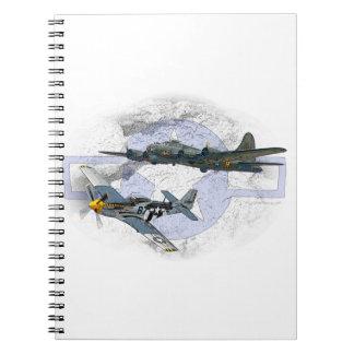 P-51 Mustang flying escort Spiral Notebook