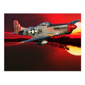 P-51 MUSTANG POST CARD