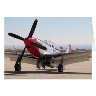 P-51 Mustang Red Tail Card