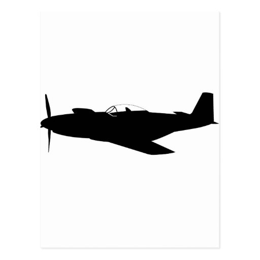 P-51 Mustang Silhouette Postcard