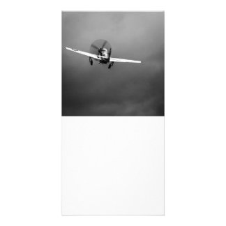 P-51 Mustang takeoff in storm Customised Photo Card