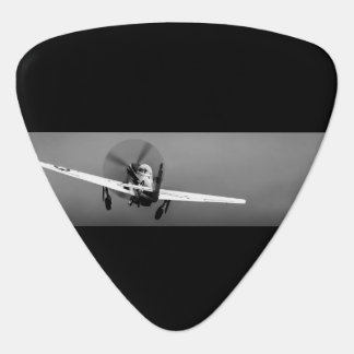 P-51 Mustang takeoff in storm Guitar Pick