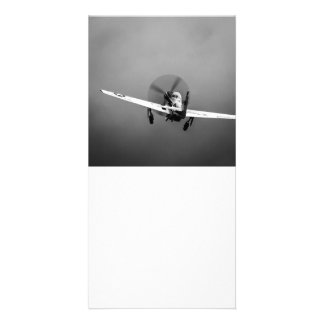 P-51 Mustang takeoff in storm Photo Greeting Card
