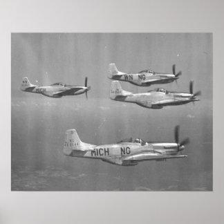 P-51 Mustangs Poster