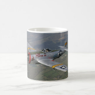 p-51 plane 11 oz magic heat Color-Changing coffee mug