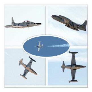 P-80 Shooting Star 5 Plane Set 13 Cm X 13 Cm Square Invitation Card