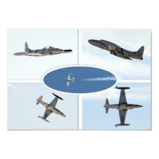 P-80 Shooting Star 5 Plane Set 9 Cm X 13 Cm Invitation Card