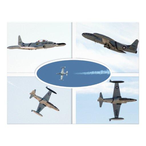 P-80 Shooting Star 5 Plane Set Flyer Design