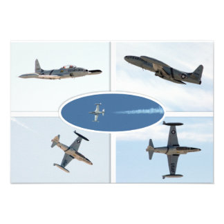 P-80 Shooting Star 5 Plane Set Personalized Announcement
