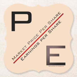 """P/E Ratio"" Paper Coaster"