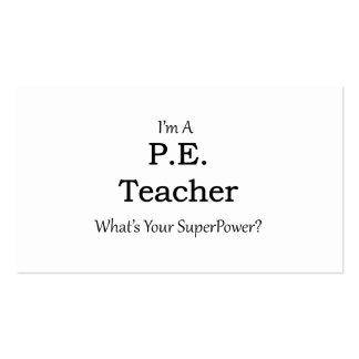 P.E. Teacher Pack Of Standard Business Cards